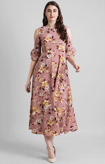 Zink London | Pink Floral Maxi Dress