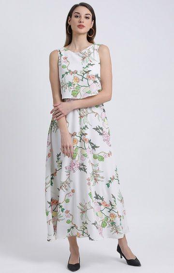 Zink London | White Floral Maxi Dress