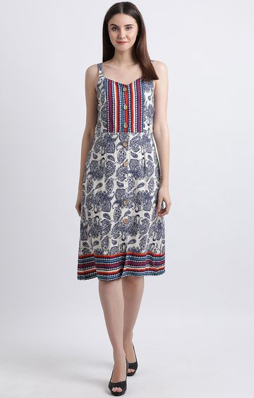 Zink London | Multicoloured Printed Shift Dress