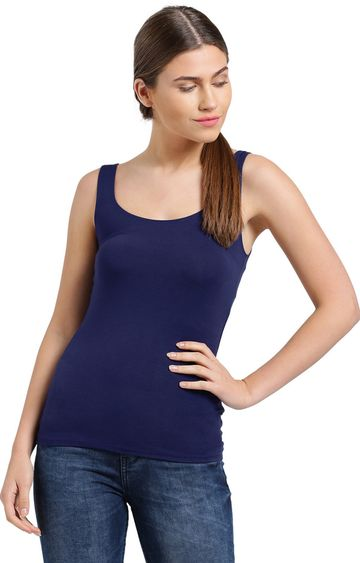 Zink London | Blue Solid Tank Top