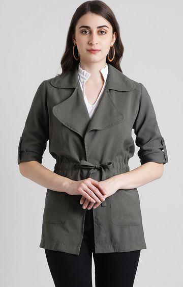 Zink London | Grey Solid Jacket