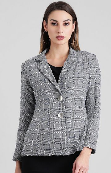 Zink London | Grey Checked Jacket