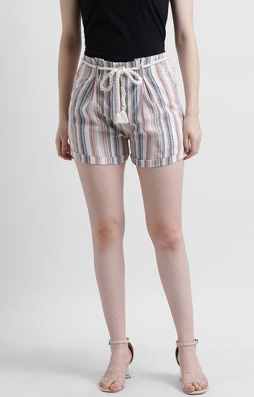 Zink London | Multicoloured Striped Shorts
