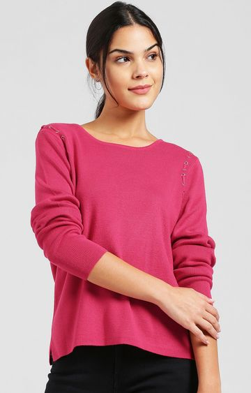 Zink London | Fuchsia Solid Pullover