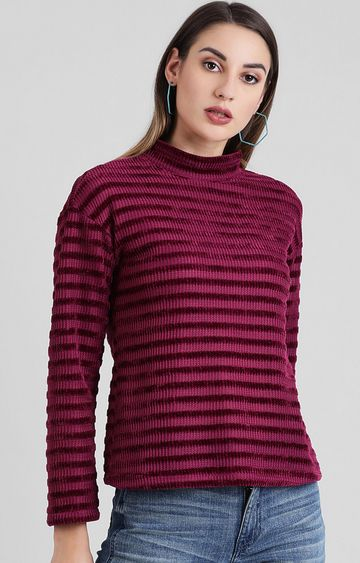 Zink London | Fuchsia Striped Sweater