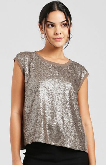 Zink London | Copper Embroidered Top
