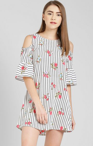Zink London | Off White Floral Tunic