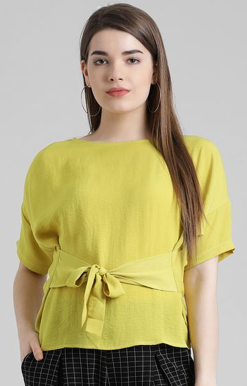 Zink London   Yellow Solid Top