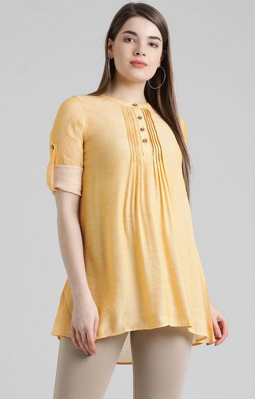 Zink London | Mustard Solid Tunic