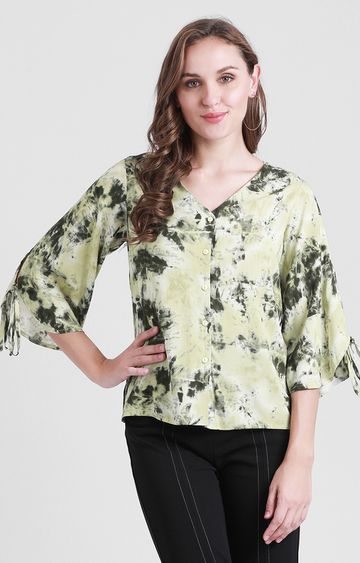 Zink London | Green Printed Top