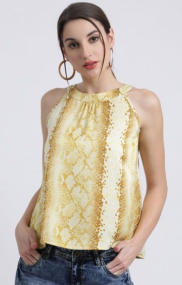 Zink London | Yellow Printed Top