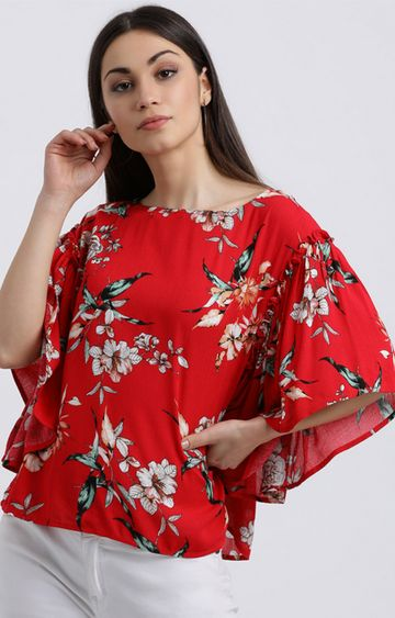 Zink London | Red Floral Top