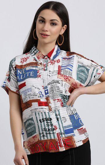 Zink London | Multicoloured Printed Casual Shirt