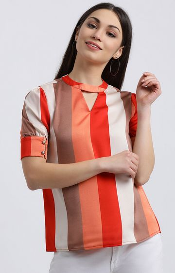 Zink London | Multicoloured Striped Top
