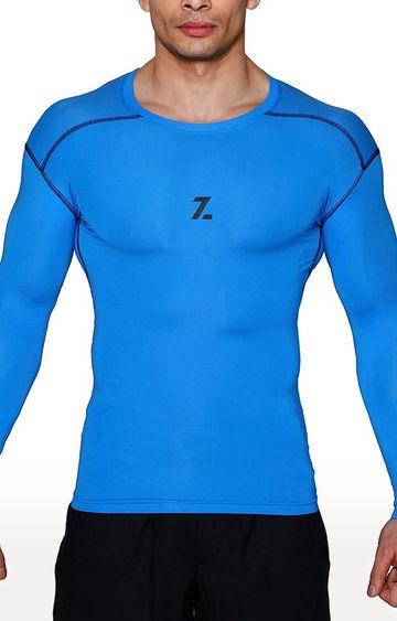 Azani | Blue Solid Compression Tops