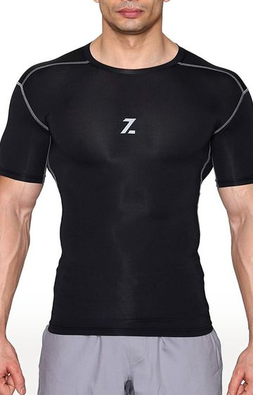 Azani | Black Solid Compression Tops