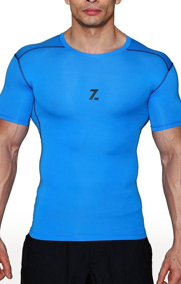 Azani | Blue Solid Compression Tops