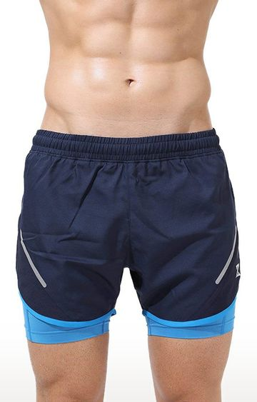 Azani | Navy and Scuba Blue Colourblock Shorts