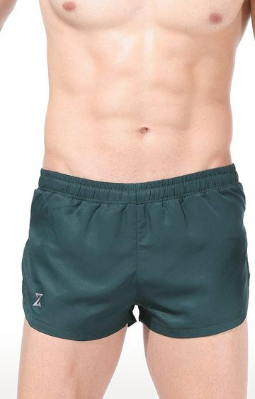 Azani | Bottle Green Solid Shorts