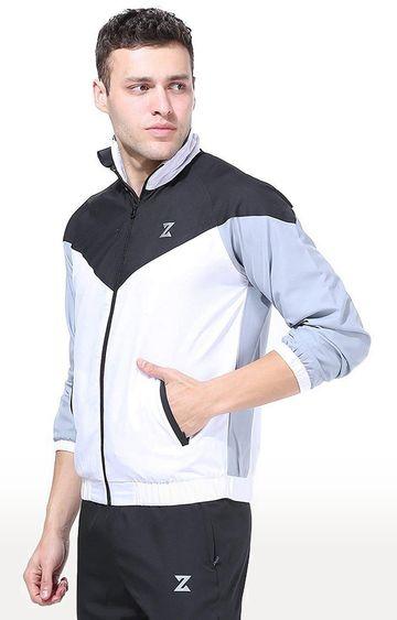 Azani | White and Black Colourblock Activewear Jacket