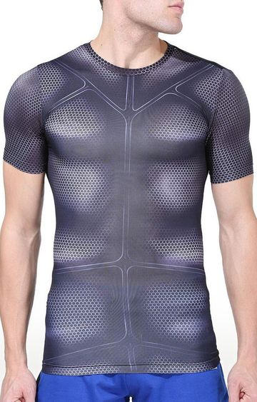 Azani | Black Printed Compression Tops