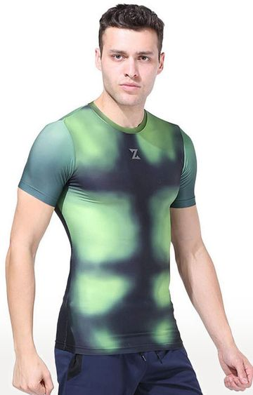Azani | Green Printed Compression Tops