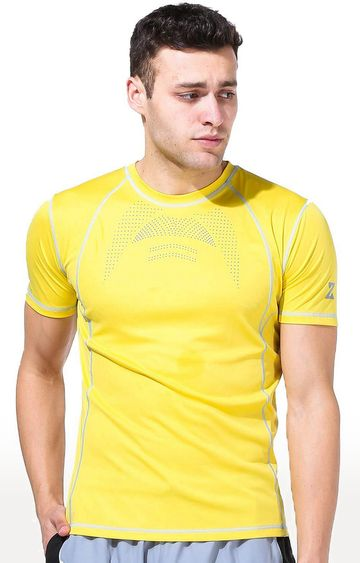 Azani | Yellow Printed T-Shirt