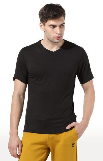 Azani | Black Solid T-Shirt