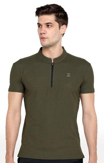 Azani | Olive Solid T-Shirt