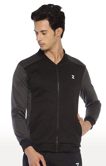 Azani | Black Solid Activewear Jacket