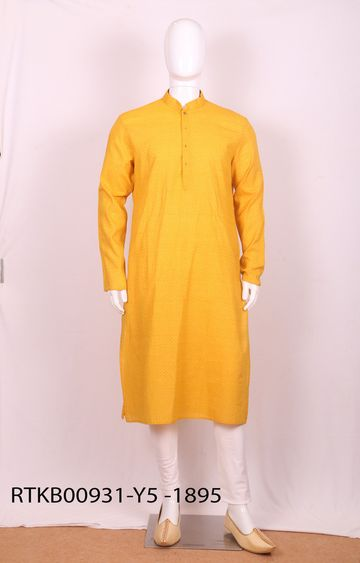Ethnix by Raymond | Ethnix By Raymond Medium Yellow Kurta With Churidar