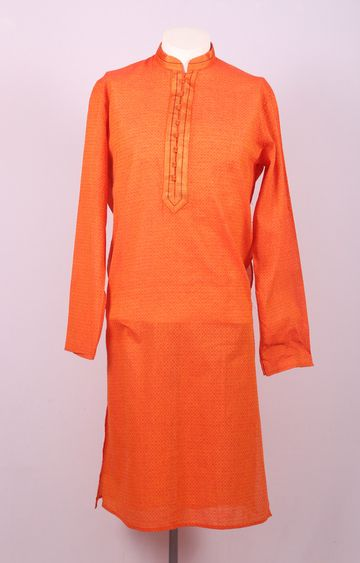 Ethnix by Raymond | Ethnix By Raymond Medium Orange Kurta With Churidar