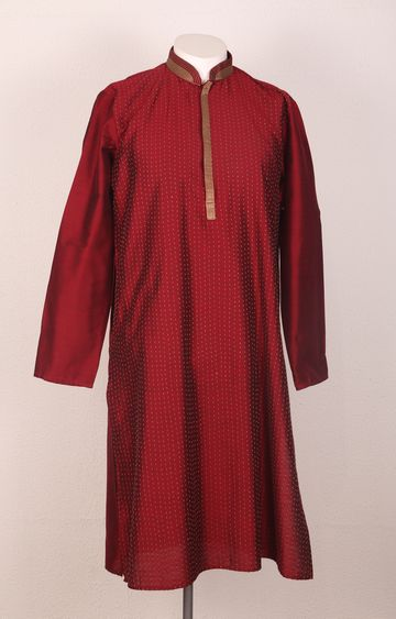 Ethnix by Raymond | Ethnix By Raymond Dark Maroon Kurta With Churidar