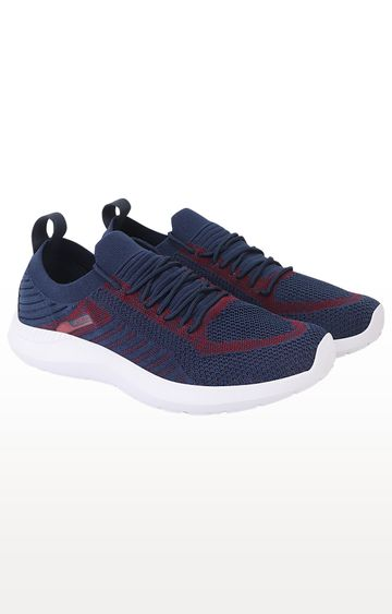 ATHLEO by Action | Navy and Red Running Shoes