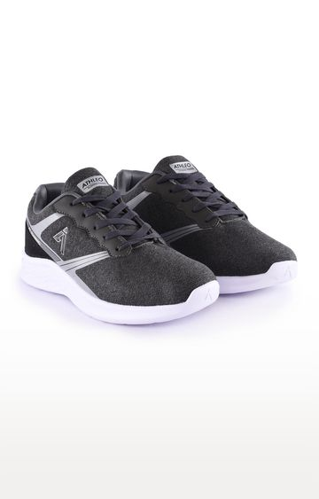 ATHLEO by Action | Black Sports Shoes