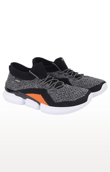 ATHLEO by Action | Grey and Orange Running Shoes