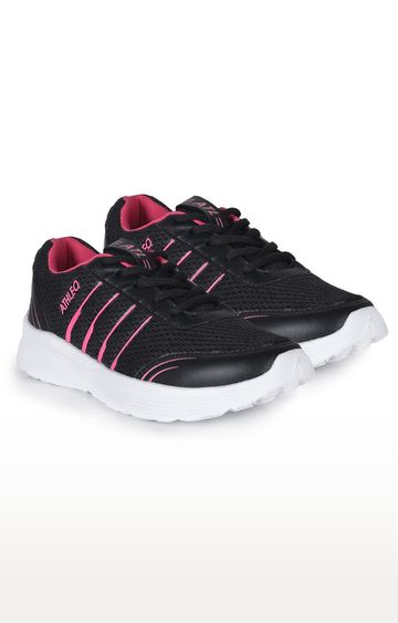 ATHLEO by Action | Black and Pink Sports Shoes