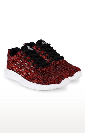 ATHLEO by Action | Black and Red Sports Shoes