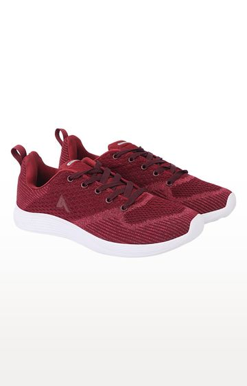 ATHLEO by Action | Maroon Running Shoes
