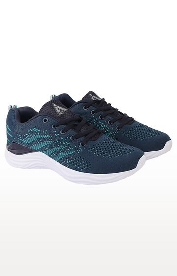 ATHLEO by Action   Navy and Sea Green Running Shoes