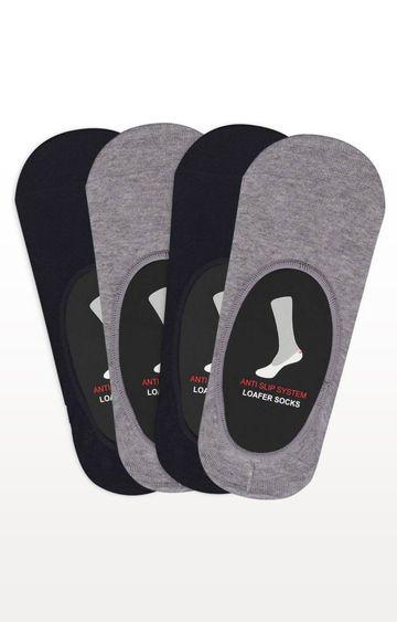 BALENZIA   Black and Grey Melange Socks - (Pack of 4)