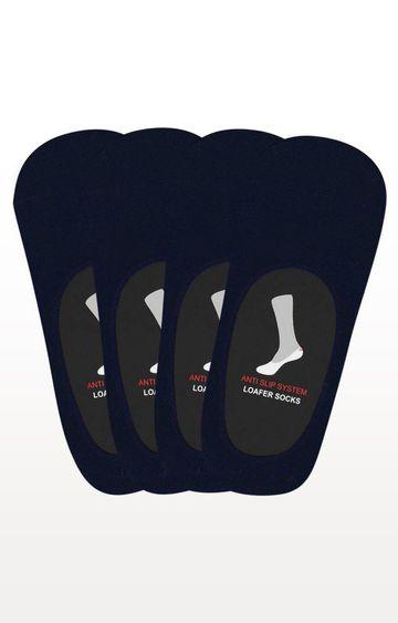 BALENZIA | Navy Solid Socks - (Pack of 4)