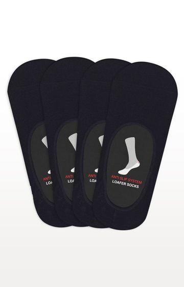 BALENZIA   Black Solid Socks - (Pack of 4)