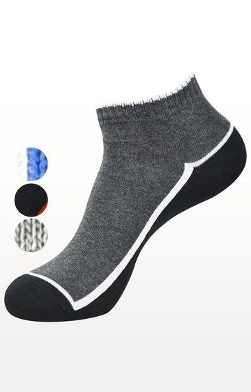 BALENZIA | Multicoloured Colourblock Socks - (Pack of 5)