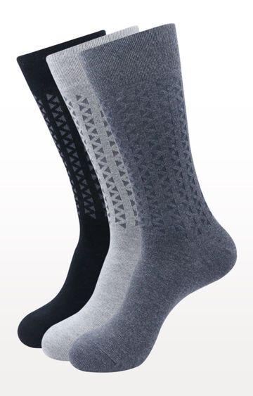 BALENZIA | Multicoloured Printed Socks - (Pack of 3)