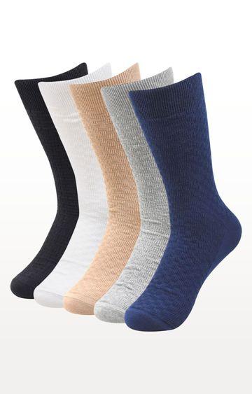 BALENZIA | Multicoloured Checked Socks - (Pack of 5)