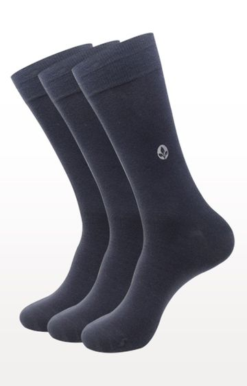 BALENZIA | Dark Grey Solid Socks - Pack of 3