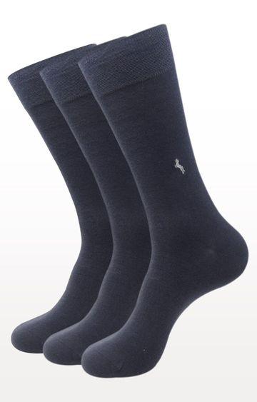 BALENZIA   Dark Grey Solid Socks - Pack of 3