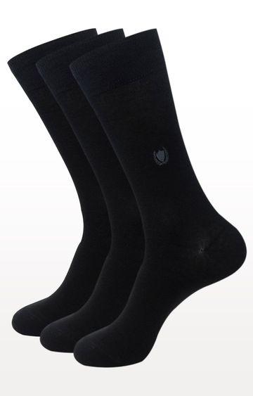 BALENZIA   Black Solid Socks - Pack of 3
