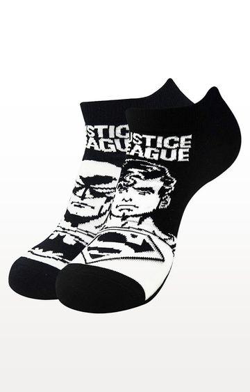 BALENZIA   Black Printed Socks - Pack of 2